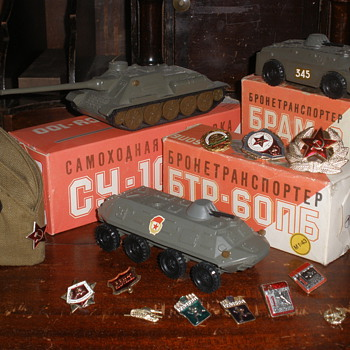 From Russia, with love. Soviet era military toys, pins, insignia, etc. - Model Cars