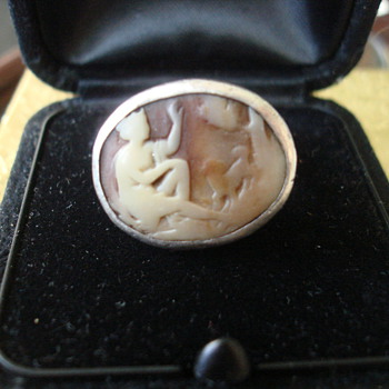 Antique? Silver Cameo Ring - Fine Jewelry