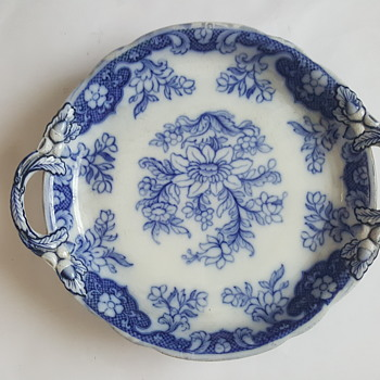 Copeland Blue White Platter Dish 1847 - 1890 - China and Dinnerware