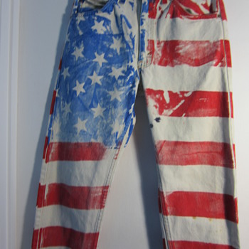 Levi's American Flag Painted Jeans