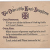 The order of the Kings Daughters membership card 1890