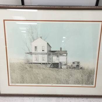Limited edition print of a house. - Fine Art