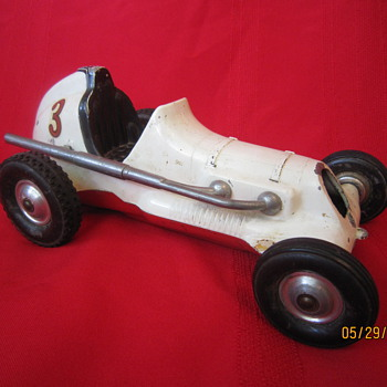 Old Roy Cox Thimble Drome Champion Santa Ana California Metal Tether Race Car   - Model Cars