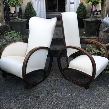 Pair deco rocking chairs - Art Deco