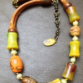 signed by nature necklace boho style - Costume Jewelry