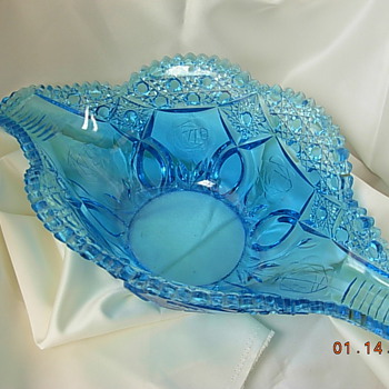 Fruit bowl, candle holders, ashtray - Glassware
