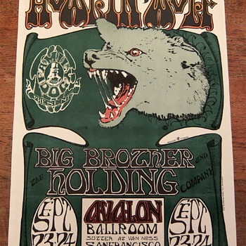 Howlin' Wolf, 1966, Avalon Ballroom - Posters and Prints