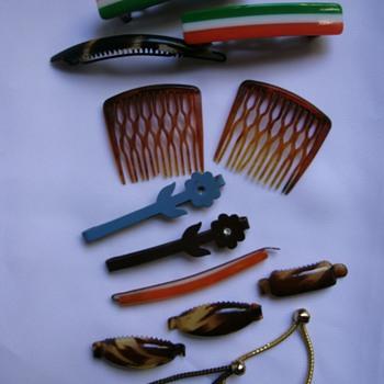 Vintage Hair Barrettes. - Accessories