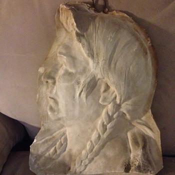 Sculpted Indian Head - Olin Warner - Fine Art