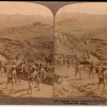 Stereoscopic Japanese troop picture - Photographs