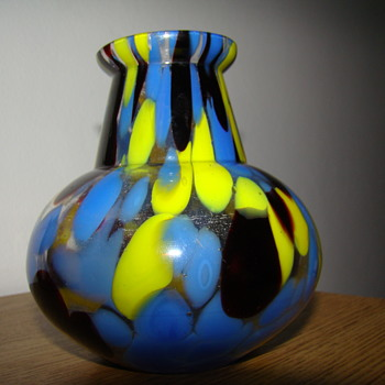 Kralik spatter glass vase or Gebruder Funk & Co - Art Deco