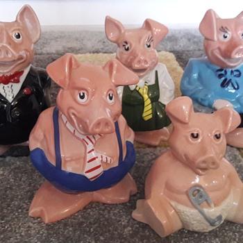Nat West Bank Ceramic Piggie Banks - Pottery