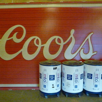 """HUGE Coors sign 12' 8"""" Wide x 7' 8"""" Tall"""