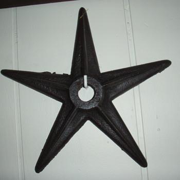 cast iron building stars - Folk Art
