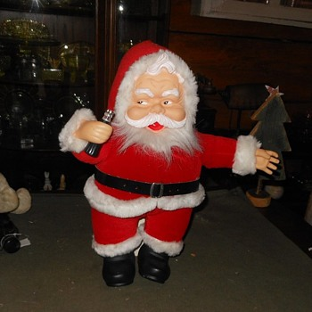 1988 Dakin Santa Doll with Coke - Christmas