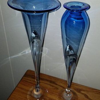 Two Art Glass Vases - Art Glass