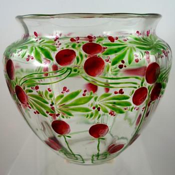 """Loetz """"Laurus"""" vase, crystal optic DEK 499, PN II-1449, ca. 1904 - Art Glass"""