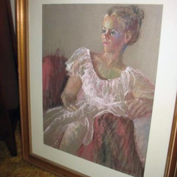 "Pastel  ""Reclining Lady"" - Fine Art"