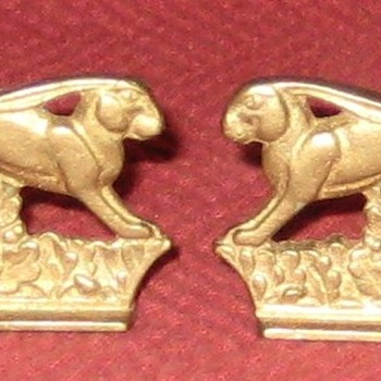 Little Brass (Bronze?) Leaping Hares - Animals