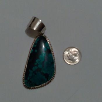 Vintage Navajo Turquoise Pendant - Fine Jewelry