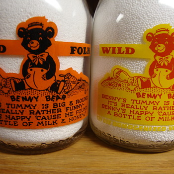 """TWO OF MY FAVORITES..........""""BENNY BEAR"""" CHARACTER FROM """"WILD FOLK"""" SERIES - Bottles"""