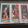 1980-81 Topps Larry Bird and Magic Johnson Rc Basketball Card