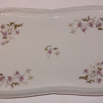 Austrian Hand Painted Small Platter (LS&S Carlsbad?) - China and Dinnerware
