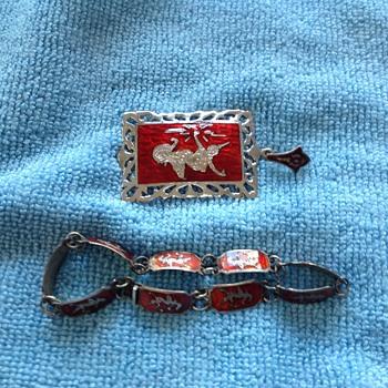 Stering silver bracelet & pendent - Silver