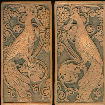 California Art Tile Peacocks - Pottery