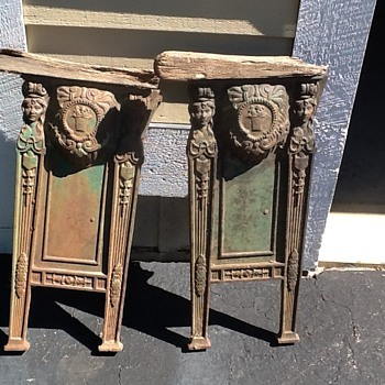 Wrought iron theater seat sides ? - Furniture