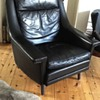 Danish mid century leather chair