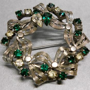 Ribbon Sterling Brooch - Fine Jewelry