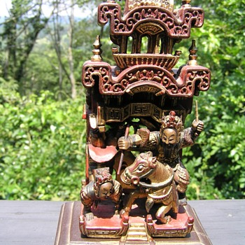 Chinese Chaozhou Wood carving