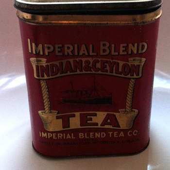 Imperial Blend Indian and Ceylon tea tin.