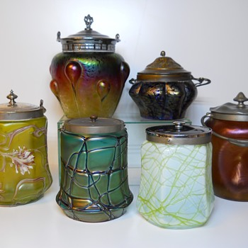 Bohemian Austria Cookie Jar Reunion, Circa 1890-1900 - Art Glass