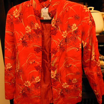 Mid century silk jacket, Chinese - Womens Clothing