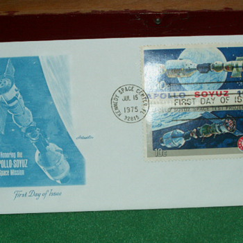 1975 Apollo-Soyuz Mission First Day Of Issue Envelope & 10¢ Stamp