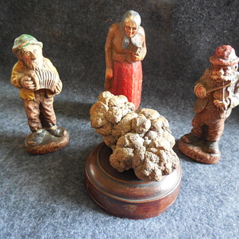 Coprolite Specimen and Viewing Figurines