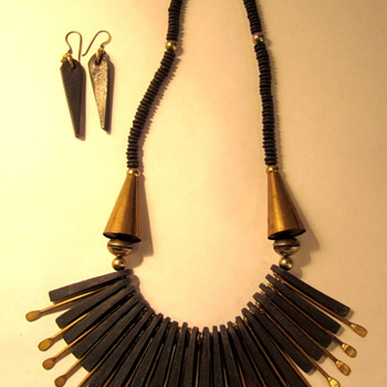 Interesting Necklace and matching earrings