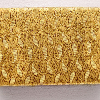 Beige and Gold Brocade Sherman Jewellery box, Large Size - Costume Jewelry