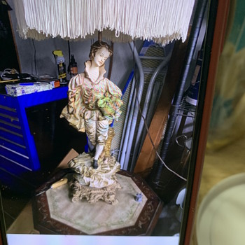 A man an woman porcelain figural table lamps - Lamps