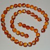 Vintage Amber and White Bead Necklace/Extension/Bracelet
