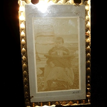Little old vintage Picture and Frame  - Photographs