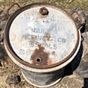 55 gal steel drum - over 100 yrs old
