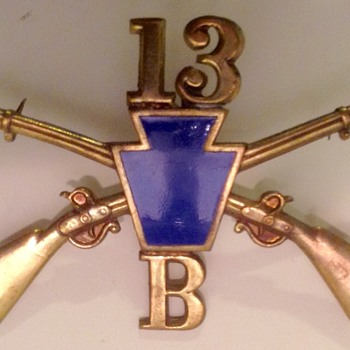Pennsylvania 13th Infantry Co. B hat pin - Military and Wartime