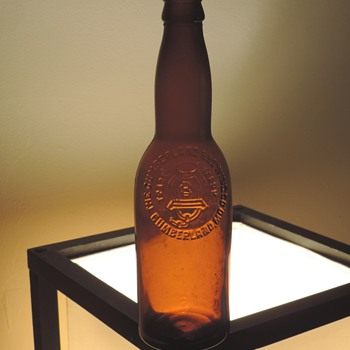 Early 1900's Cumberland Brewing Beer Bottle Maryland Embossed Amber Brown Antique Vintage - Bottles