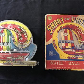Marx Shoot the chutes game  - Toys