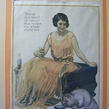 Coca Cola advertisement from The Ladies Home Journal October 1924 - Coca-Cola