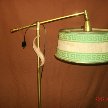 Vintage Floor lamp with fabric ( or paper?) shade