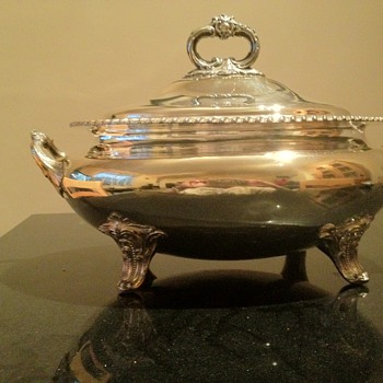 Silver Plated Soup Tureen - Silver